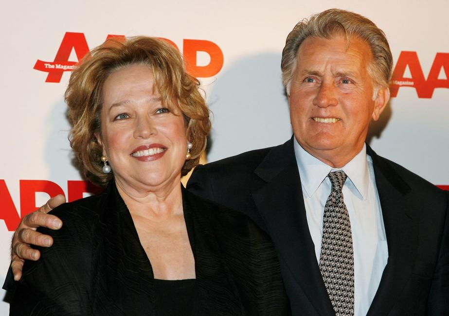 Martin Sheen and Kathy Bates at the Sixth Annual Movies For Grownups Awards at The Hotel Bel-Air.