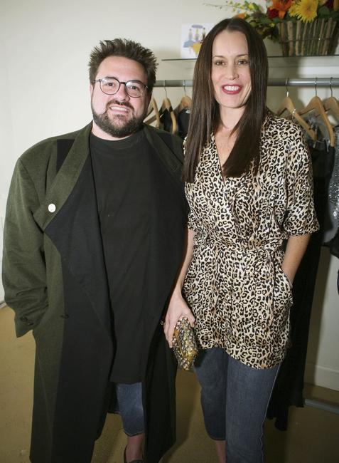 Kevin Smith and wife Jennifer Schwalbach at the