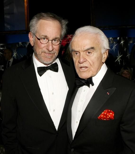 Steven Spielberg and Former Motion Picture Association of America CEO Jack Valenti at the 59th Annual DGA Awards.