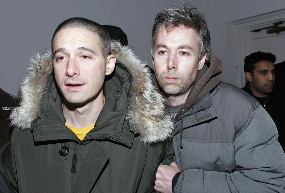 Adam Horowitz and Adam Yauch at the 35th anniversary of the Addidas superstar sneaker honoring the life of Jam Master Jay.