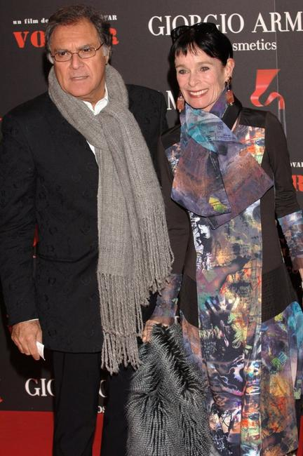Geraldine Chaplin and her husband at the Spanish premiere for
