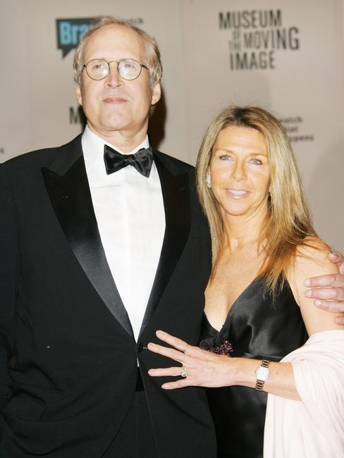 Chevy Chase and his wife Jaynie Luke at the Museum of The Moving Image Salute to Will Smith at the Waldorf-Astoria Hotel.