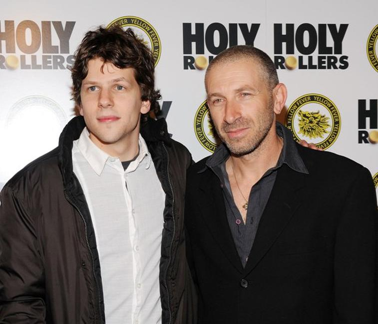Jesse Eisenberg and Mark Ivanir at the premiere of