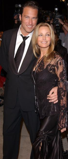 John Corbett and Bo Derek at the Vanity Fair Oscar Party.