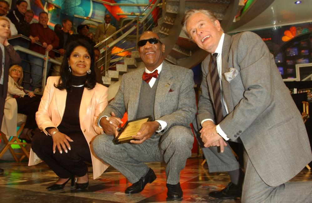 Robert Culp and Phylicia Rashad at the at Rockefeller Center.