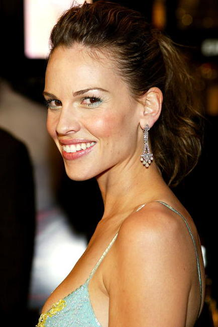 "Hilary Swank at the premiere of ""Iron Jawed Angels"" in Los Angeles."