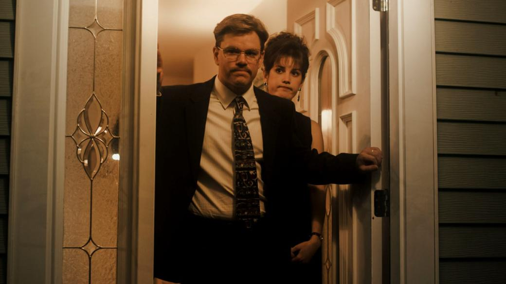 Matt Damon as Mark Whitacre and Melanie Lynskey as Ginger Whitacre in