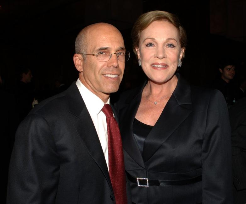 Julie Andrews and Jeffrey Katzenberg at the The Millennium Ball 2006.
