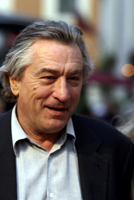 Robert De Niro at the inaugural ceremony of the Robert De Niro Sr. painting exhibition in Rome.