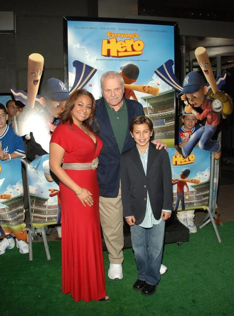 Brian Dennehy, Raven Symone with Jake T. Austin at the New York premiere of