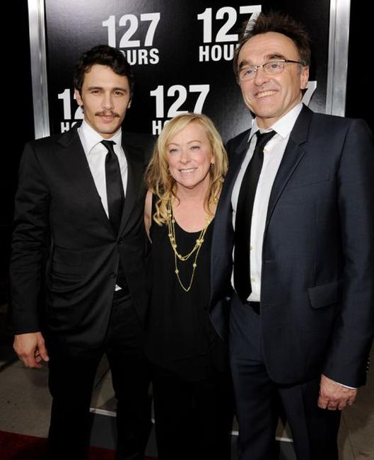 James Franco, Nancy Utley and Danny Boyle at the premiere of