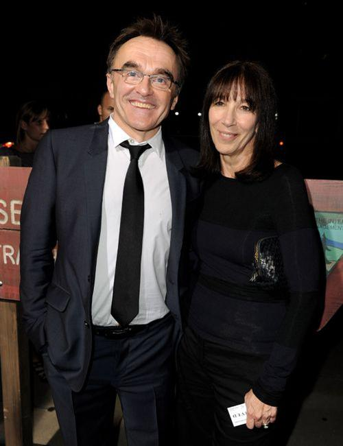 Danny Boyle and Donna Isaacson at the premiere of