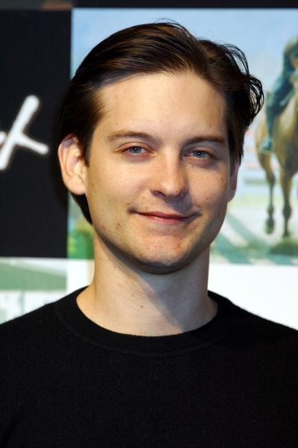 Tobey Maguire at the press conference in Japan for