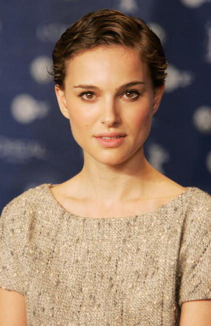 "Natalie Portman at the press conference for ""V for Vendetta"" in Berlin, Germany."