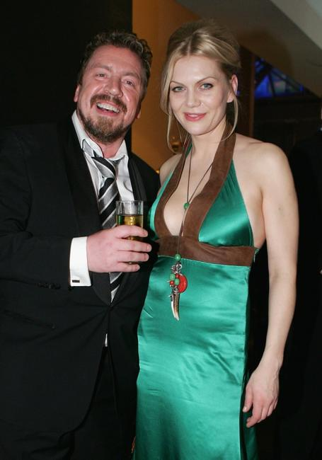 Armin Rohde and Anna Loos at the after party of the Goldene Kamera Awards.