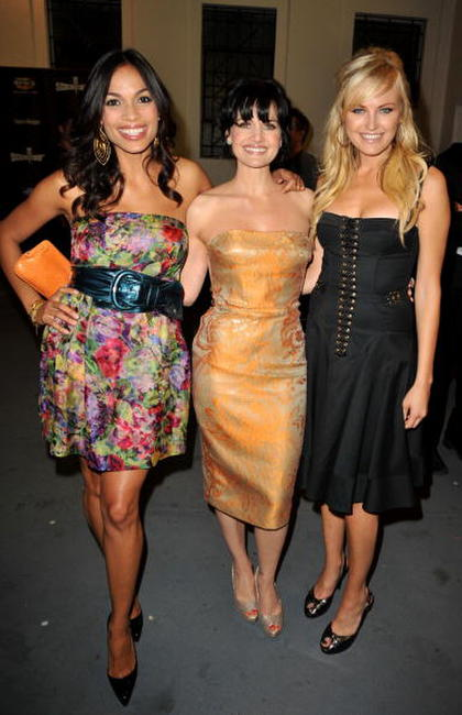 Rosario Dawson, Carla Gugino and Malin Akerman at the Spike TV's 2008 Scream Awards.