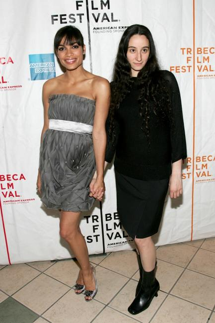 Rosario Dawson and director Talia Lugacy at the premiere of