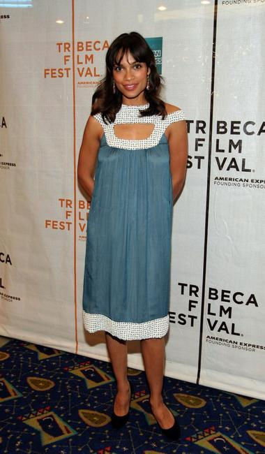 Rosario Dawson at the press conference of