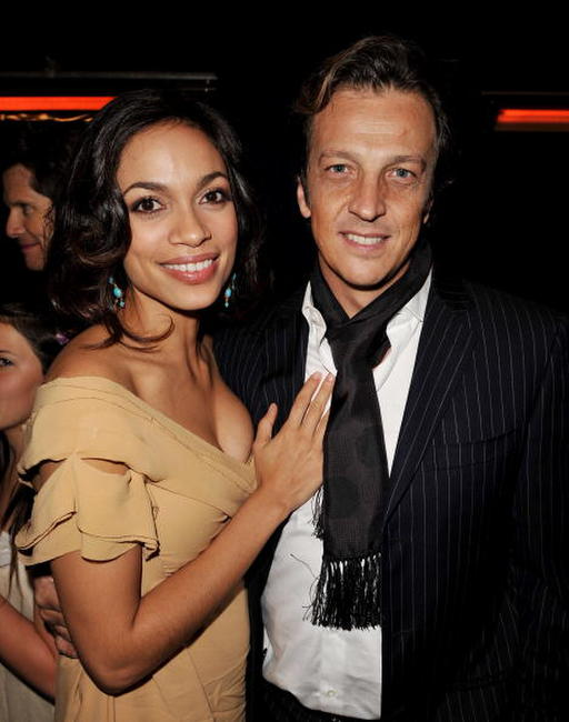 Rosario Dawson and director Gabriele Muccino at the after party of the premiere of