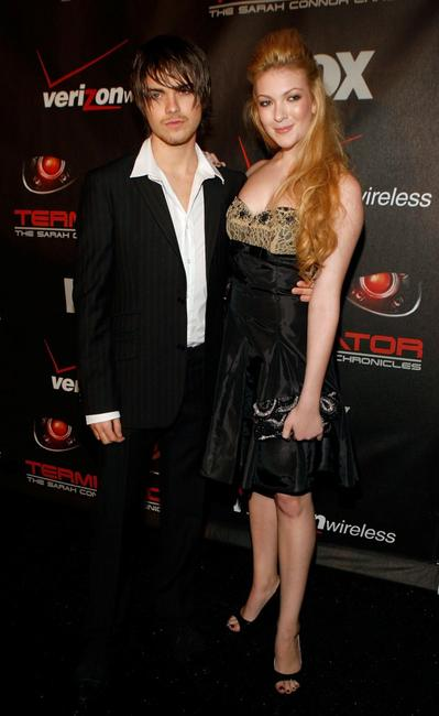 Thomas Dekker and Sydney Freggiaro at the premiere of