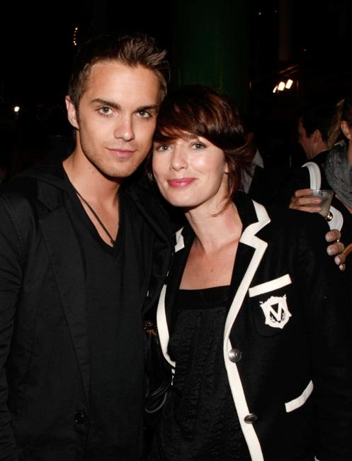 Thomas Dekker and Lena Headey at the FOX All-Star Party.