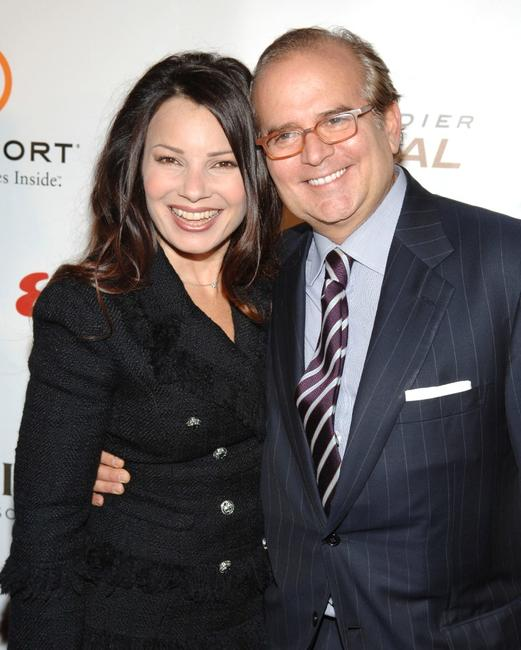 Fran Drescher and Stephen Jacoby at the Fastercures event honoring Sumner Redstone.