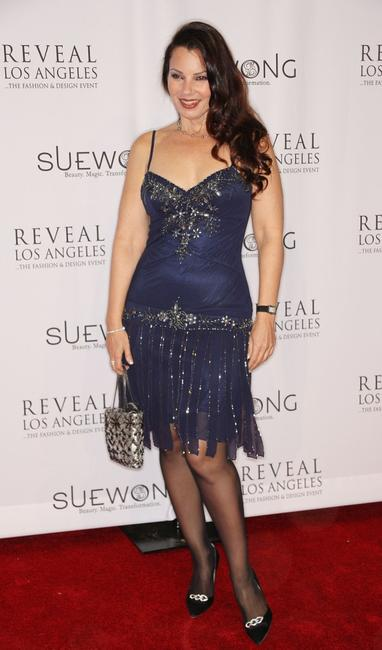 Fran Drescher at the Sue Wong Opulent Restraint party.