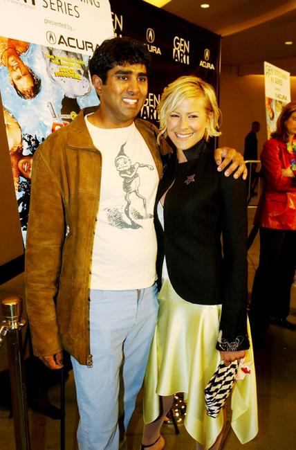 Jay Chandrasekhar and Brittany Daniel at the Hollywood screening of
