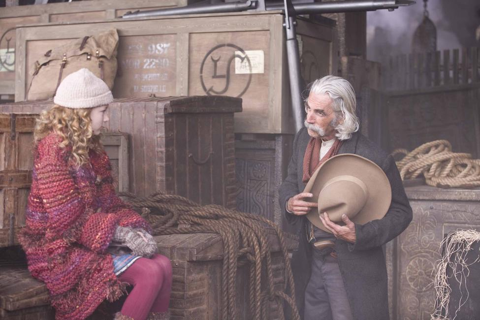 Dakota Blue Richards and Sam Elliott in
