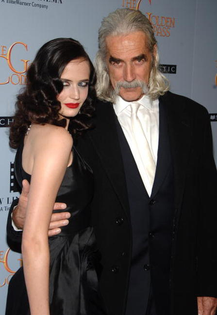 Eva Green and Sam Elliott at the premiere of