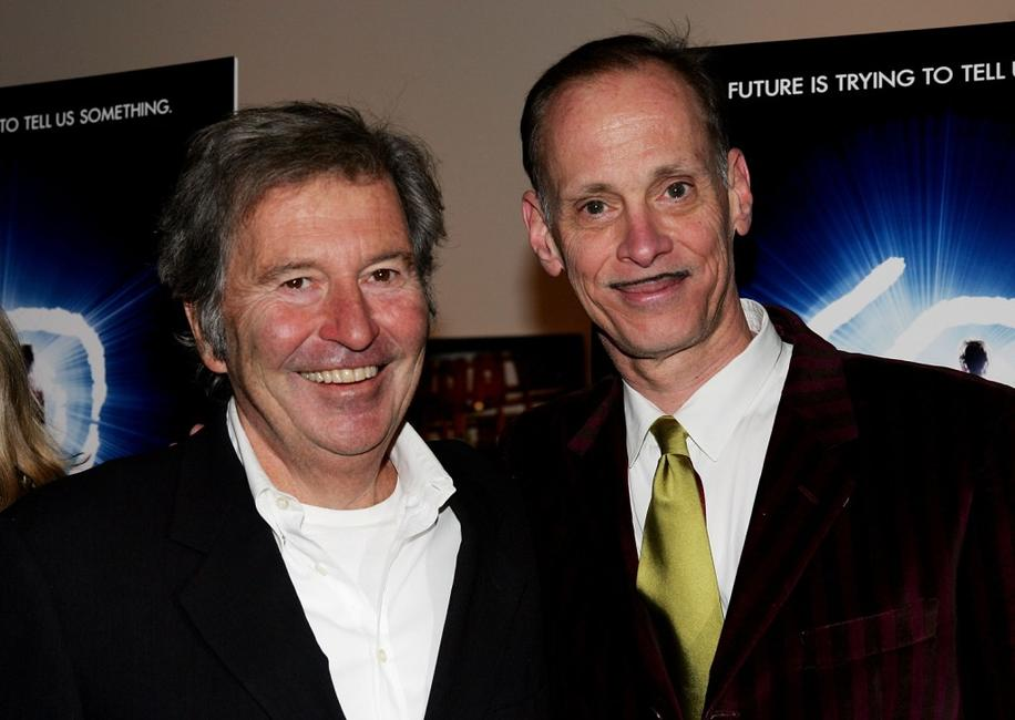 John Waters and Bob Shaye at the premiere of