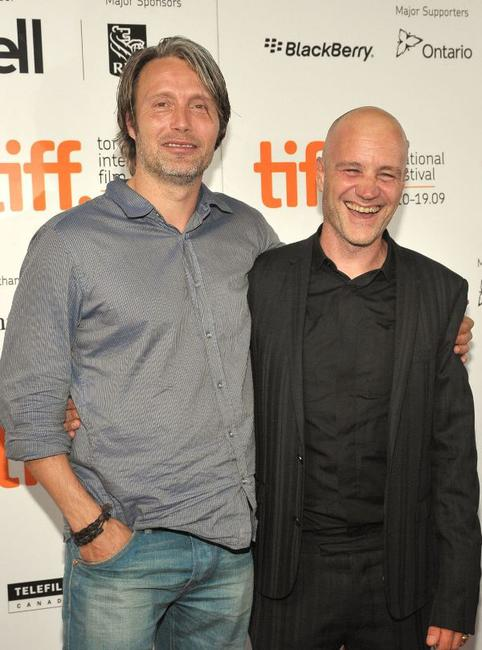 Mads Mikkelsen and Jan Kounen at the screening of