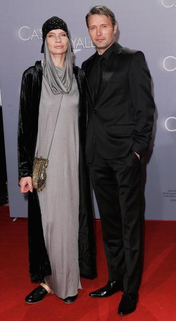 Mads Mikkelsen and Veruschka von Lehndorff at the German premiere of
