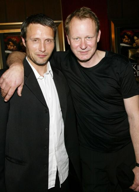Mads Mikkelsen and Stellan Skarsgard at the world premiere of