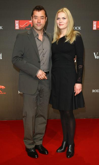 Jan Josef Liefers and Anna Loos at the 2009 New Faces Awards.