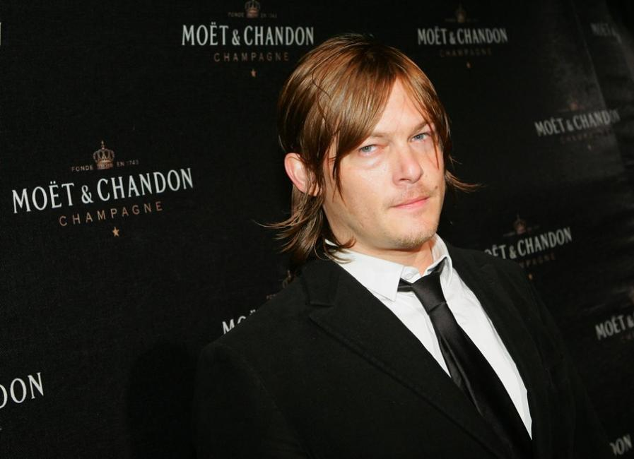 Norman Reedus at the Moet and Chandon Fabulous Fete on Liberty Island.