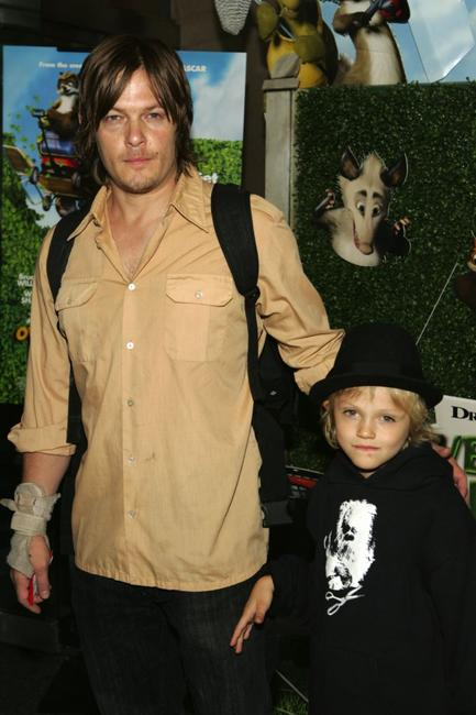 Norman Reedus and his son Mingus at the premiere of