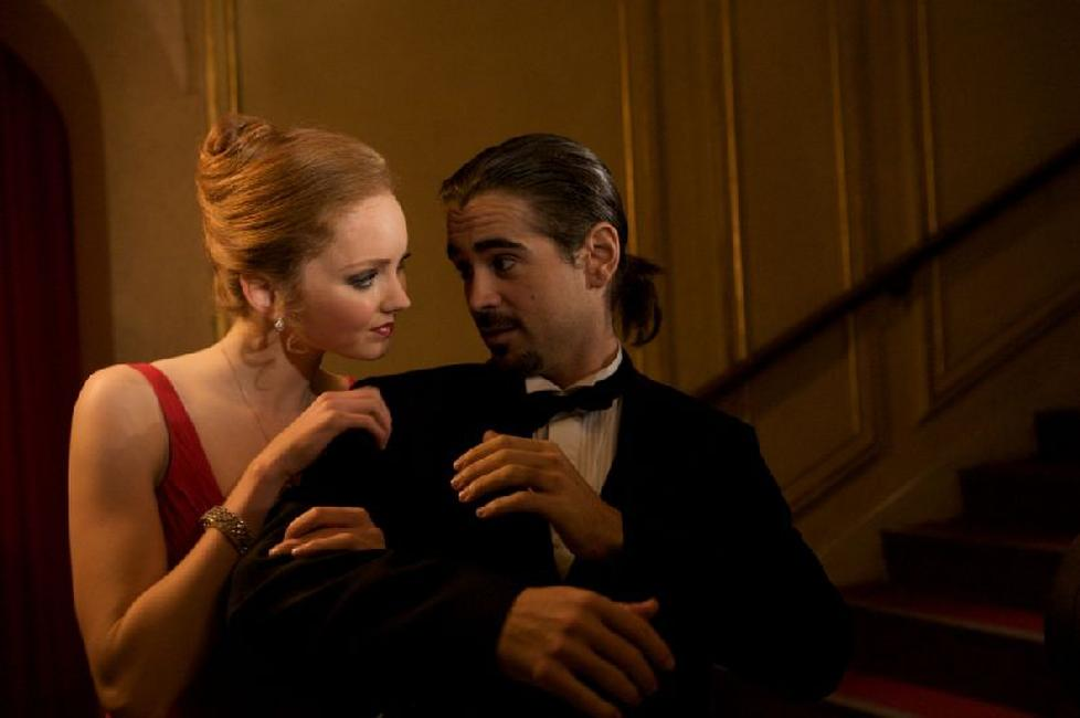 Lily Cole as Valentina and Colin Farrell as Imaginarium Tony 3 in