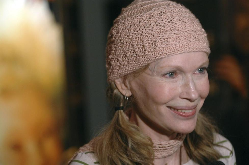 Mia Farrow at the new york premiere of