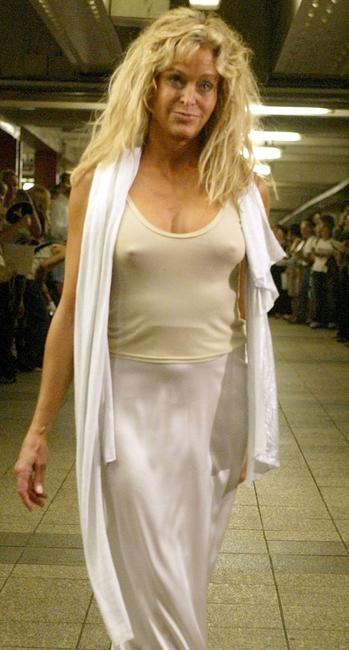 Farrah Fawcett at the Yeohlee show during the Olympus Fashion Week Spring 2005.