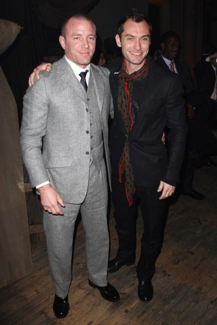 Guy Ritchie and Jude Law at the after party of the London premiere of