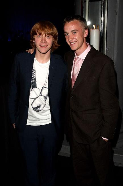 Rupert Grint and Tom Felton at the after party of the European premiere of