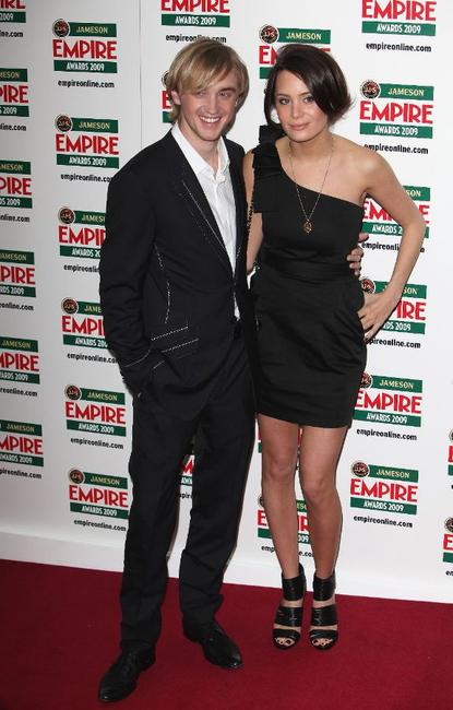 Tom Felton and Guest at the Jameson Empire Awards 2009.