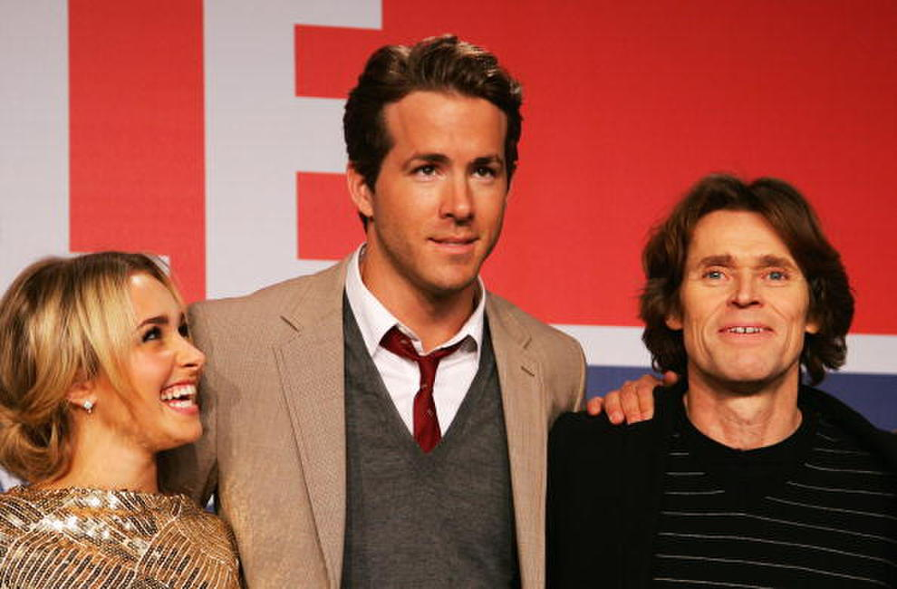 Hayden Panettiere, Ryan Reynolds and Willem Dafoe at the photocall of