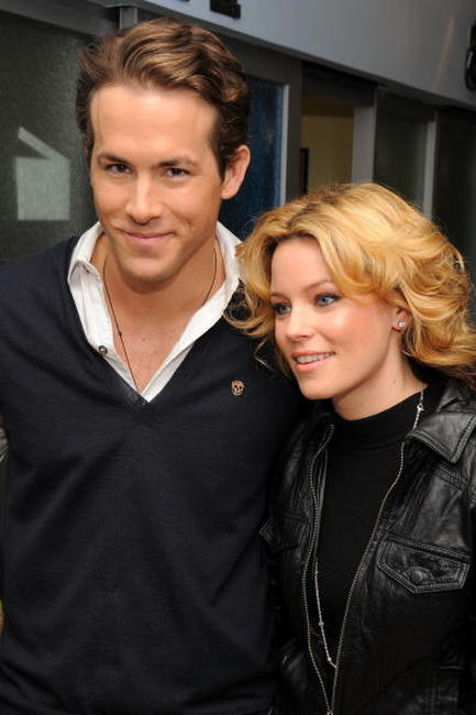 Ryan Reynolds and Elizabeth Banks at the MTV's Total Request Live.