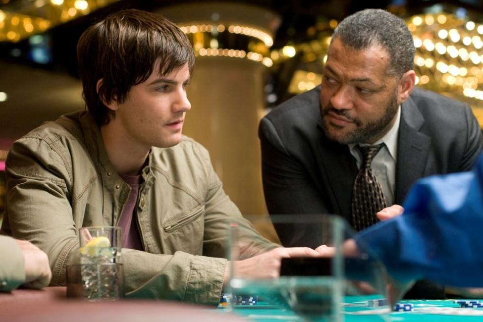 Jim Sturgess and Laurence Fishburne in