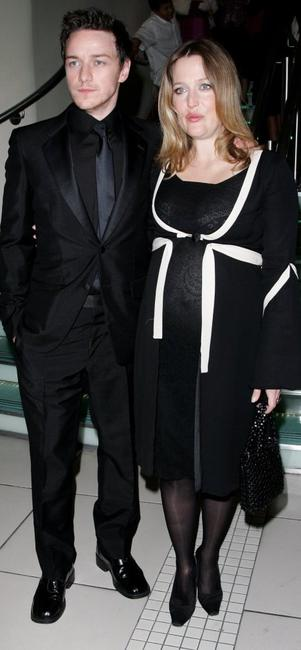 James McAvoy and Gillian Anderson at the UK premiere of
