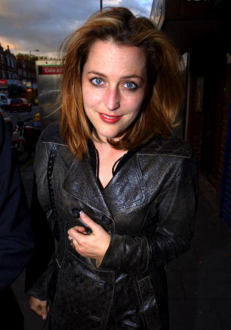 Gillian Anderson at the Bush Bar & Grill Summer Party.