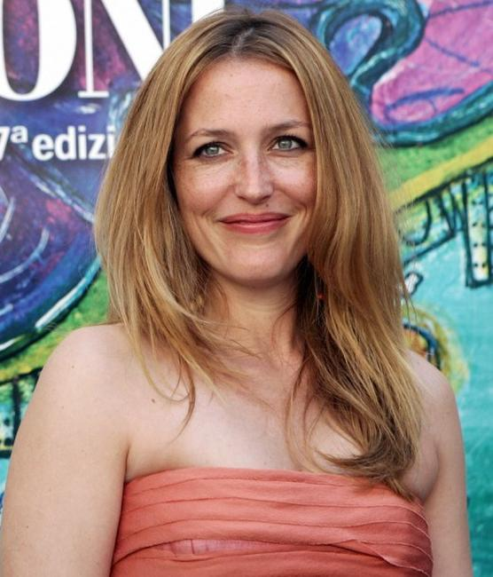 Gillian Anderson at the Giffoni Film Festival.
