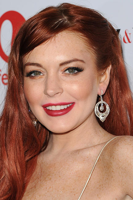 Lindsay Lohan at the premiere of Lifetime's